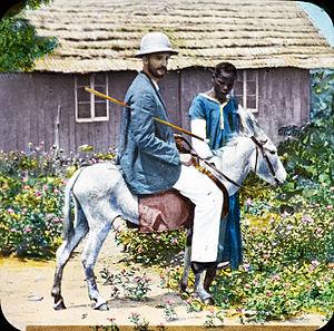 Congo-Balolo Mission - Image: Missionary on donkey, Congo, ca. 1900 1915 (IMP CSCNWW33 OS12 28)