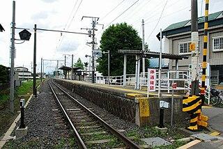 Miyaki Station railway station in Tatsuno, Kamiina district, Nagano prefecture, Japan