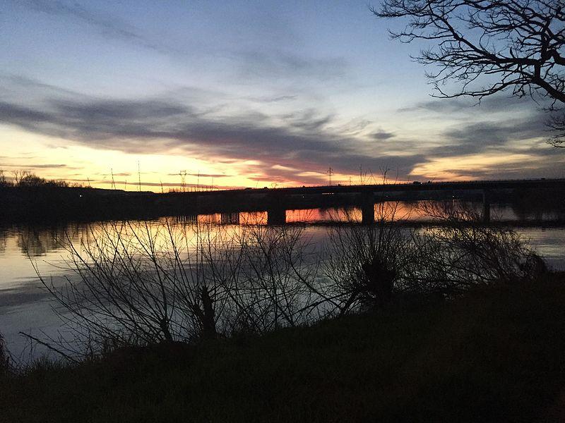 Couché de soleil sur la Moselle