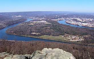 Moccasin Bend - Moccasin Bend, viewed from Lookout Mountain