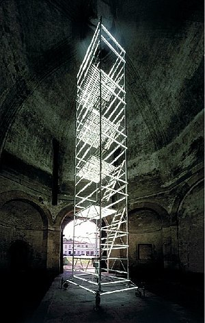 Molitor & Kuzmin - Image: Molitor & Kuzmin Lichtinstallation, 2001, Porta Savonarola, Padua, Italien