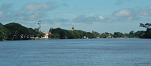 Santa Cruz de Mompox - View of Mompox from the Magdalena River