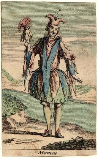 "Momus - ""The Fool"" (Momus), on an 18th-century playing card"