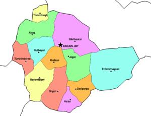 Sükhbaatar Province - Sums of Sükhbaatar