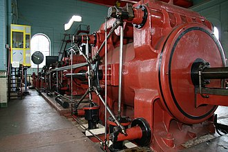 Glossary of coal mining terminology - Winding engine at Astley Green Colliery Museum