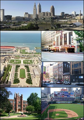 Montage of Cleveland images. From top to botto...