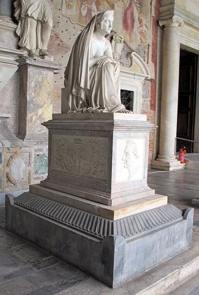 Archivo: Monumento del conte Masiani con l'Inconsolabil di Lorenzo Bartolini (1841) 01.JPG