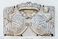 Moosburg Schloss Supraporte Doppelwappen Kronegg Zinzendorff 29082017 5429.jpg