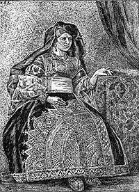 Moroccan Jewish woman, c. 1900.