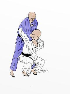 Seoi nage Judo technique
