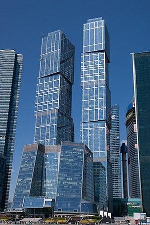 Centro Internacional de Negocios de Moscú en construcción