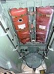 Mosquito TJ138 fuel tanks at RAF Museum London Flickr 4607704928.jpg