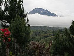 Mt. Apo overlooks Davao City.