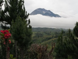 Davao City - Mount Apo is the tallest mountain in the Philippines.