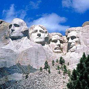 English: Mount Rushmore - from left to right :...