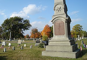Mount Wollaston Cemetery - Image: Mount Wollaston Cemetery Civil War Mem