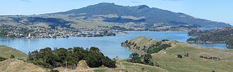 Raglan, New Zealand - Mt. Karioi, Raglan and Whaingaroa Harbour