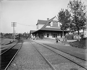 Pocono Mountain station - Image: Mt. Pocono station, D.L. & W.R.R. Related Names Detroit Publishing Co. , publisher Date Created Published between 1890 and 1901