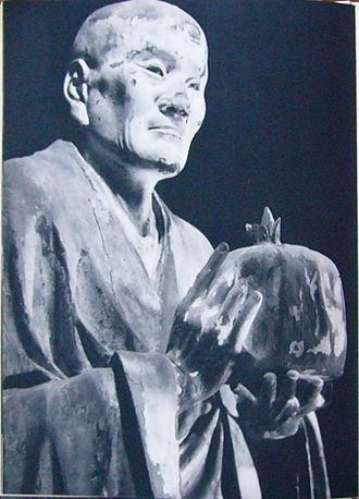 Asanga - Japanese wood statue of Asaṅga from 1208 CE