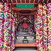 Multi-coloured kukuri-zaru talismans at Kongoji Yasaka Koshin-do temple, Kyoto, Japan (2).jpg