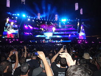 The 2nd Law World Tour - The Unsustainable Tour stage in Estadi Olímpic Lluís Companys, Barcelona