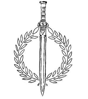 Myth and Sword - Image: Myth and Sword Society seal, drawing