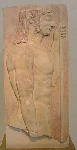 NAMA Grave stele of a young doryphoros.JPG