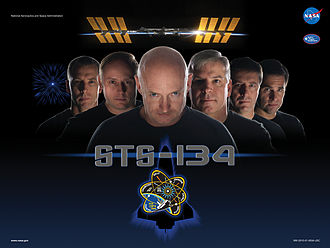 STS-134 - Mission poster, based on a Star Trek promotional poster.