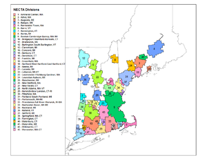 New England city and town area - Image: NECTA Divisions