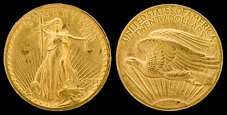 Double eagle - The 1907 high relief double eagle designed by Augustus Saint-Gaudens