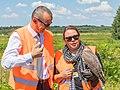 NRW-Umweltministerin Ursula Heinen-Esser - tierische Helfer am Airport Köln-Bonn-10142.jpg