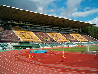 Stadion Juliska - Main stand of the stadium before reconstruction in 2011