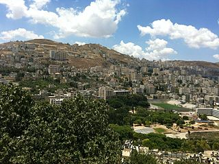 Nablus Municipality type A in State of Palestine