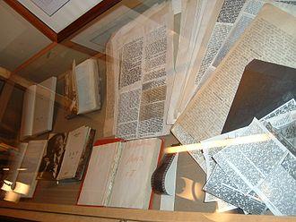 Vladimir Nabokov bibliography - Samizdat copies of Nabokov's works on display at Nabokov House