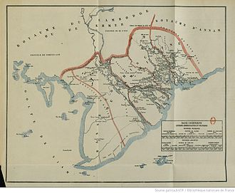 Cochinchina Campaign - Map of Cochinchina