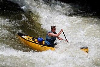 Nantahala, North Carolina - Nantahala River canoeist 2009