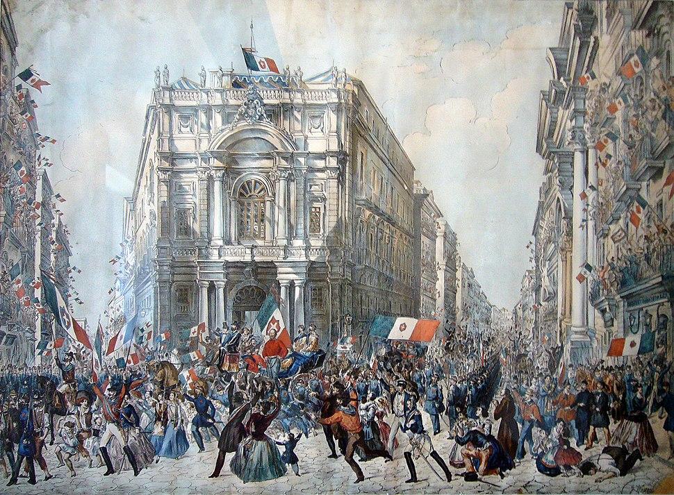Napoli Castel Nuovo museo civico - ingresso di Garibaldi a Napoli - Wenzel bis