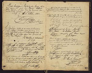 Guestbook - A guestbook from the Salant Hotel, held by the National Library of Israel