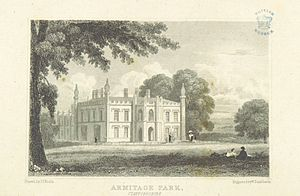 Armitage Park - Armitage Park, Staffordshire drawn by Neale in 1818