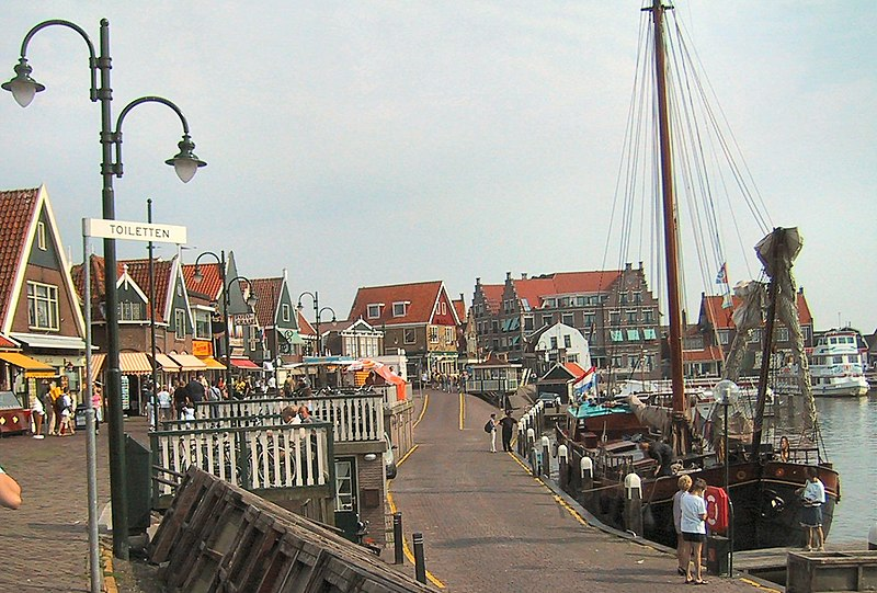 The harbor of Volendam