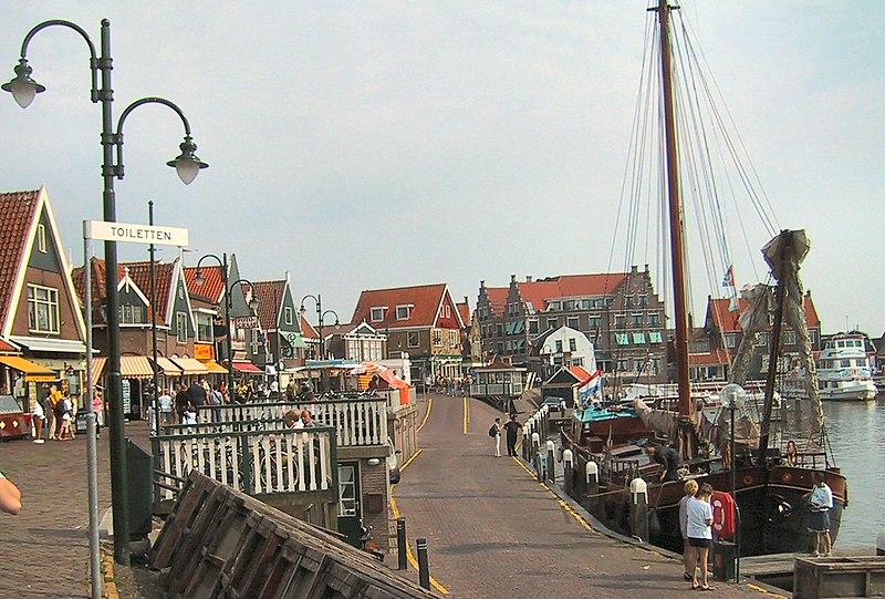 The harbor of Volendam
