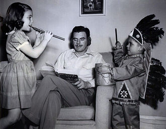 Nelson Olmsted - Olmsted and his two children in 1947.