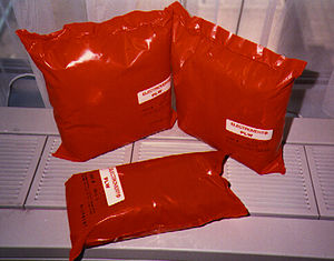Firestop pillow - Firestop pillow: a passive fire protection product. This particular example consists of three layers of rockwool, two of which have been sprayed with an intumescent. The layered bundle is then inserted into a plastic bag, which is heatsealed. Other pillows use loose fills, like vermiculite with graphite poured into a fibreglass fabric bag.