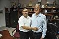 New DG Anil Shrikrishna Manekar Hugs Retired DG Ganga Singh Rautela - NCSM - Kolkata 2016-02-29 1826.JPG