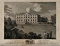 Newcastle Royal Infirmary; perspective view. Etching by J. F Wellcome V0047621.jpg