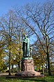 Nice green weathered copper (bronze) statue of holy Petrus Canisius (1521-1579) at Nijmegen erected in 1927 in the Hunnerpark - panoramio.jpg