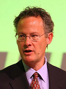 Nicholas Carr speaking at the VINT Symposium in 2008 edit3.jpg