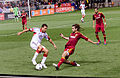 Nick DeLeon challenged by Kyle Beckerman.jpg