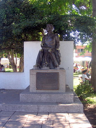 Nicolás Palacios - Nicolás Palacios statue on his birthplace's main square, December 2009.