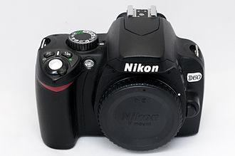 Nikon D60 - Image: Nikon D60 body front
